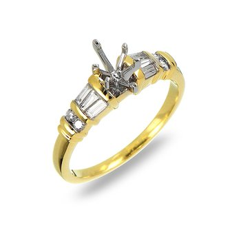 18K YG Diamond Engagement Ring (Semi Mount)