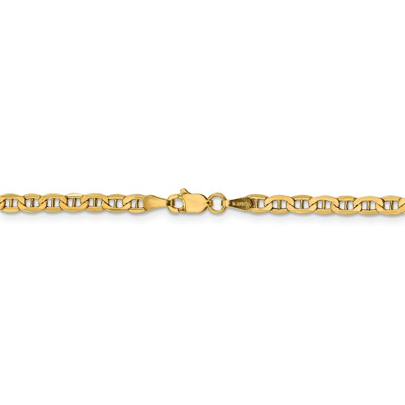 Fine Jewelry by JBD 14k 3.2mm Semi-Solid Anchor Chain Anklet