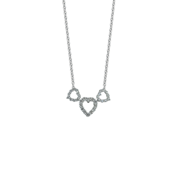 18KT GOLD DIAMOND TRIPLE HEART PENDANT