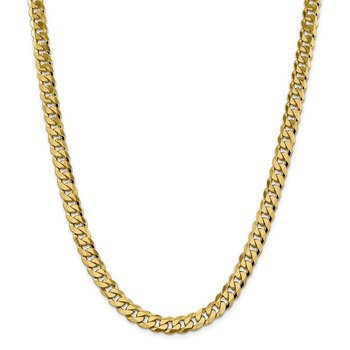 14k 8.5mm Flat Beveled Curb Chain