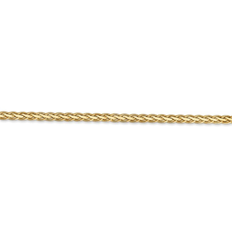 Quality Gold 14k 3mm Flat Wheat Chain
