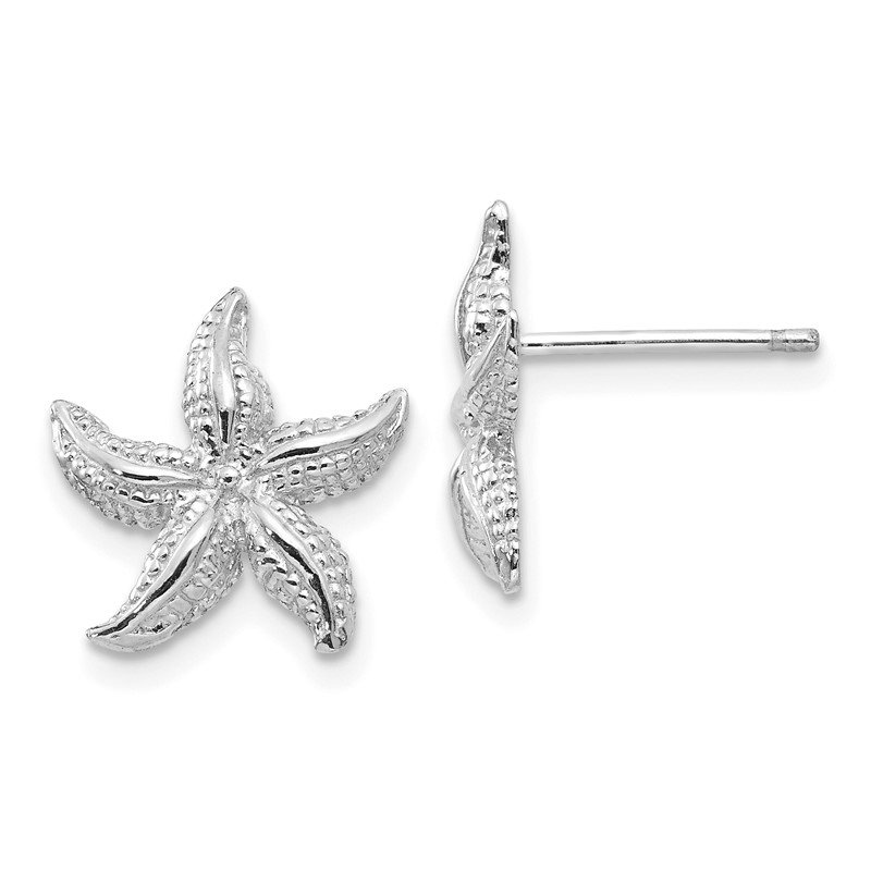 J.F. Kruse Signature Collection 14k White Gold Starfish Earrings