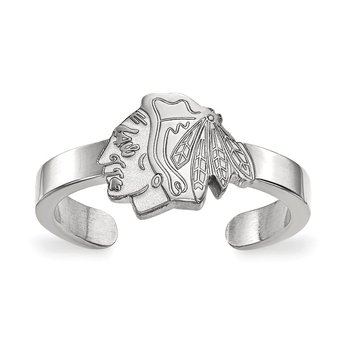 Sterling Silver Chicago Blackhawks NHL Ring