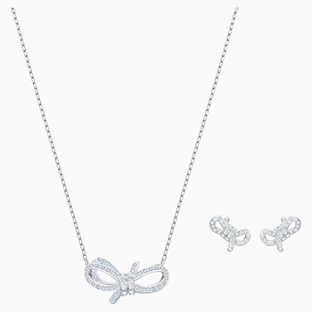 Lifelong Bow Set, White, Rhodium plated