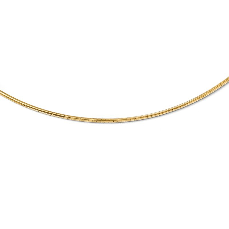 Leslie's Leslie's 14K 2mm Round Omega Necklace