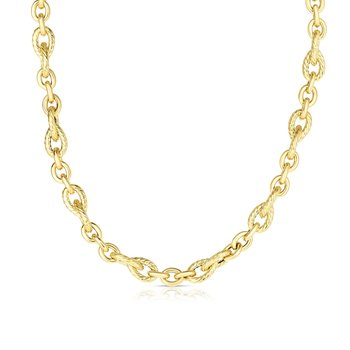 14K Gold Italian Cable Necklace