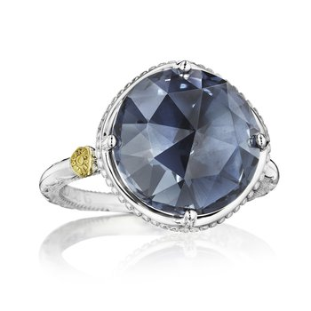 Bold Simple Gem Ring featuring London Blue Topaz