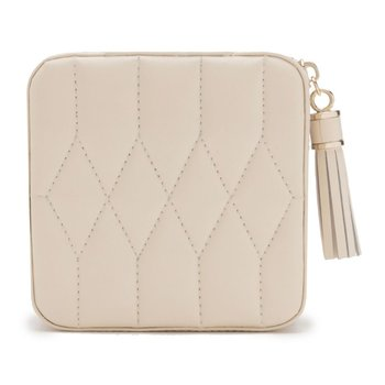 Caroline Zip Travel Case, Ivory Leather