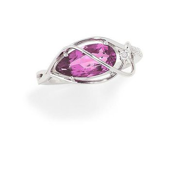 Pink Sapphire Ring-CR9802WPS
