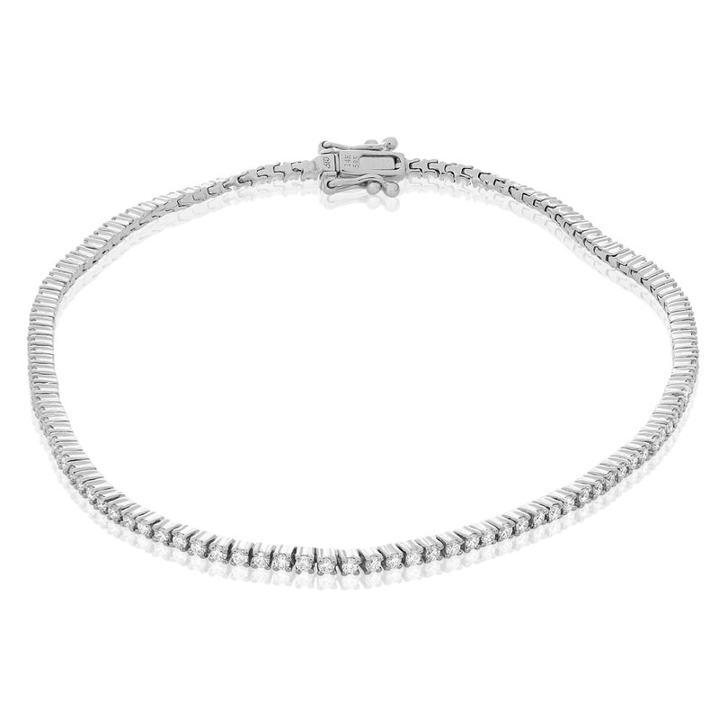 Roman & Jules White Gold & Diamond Tennis Bracelet