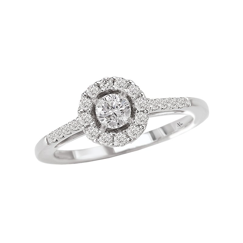 LaVie Round Halo Complete Diamond Ring