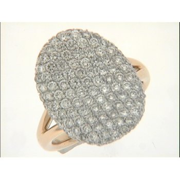 Yellow & White Gold Diamond Pave Ring