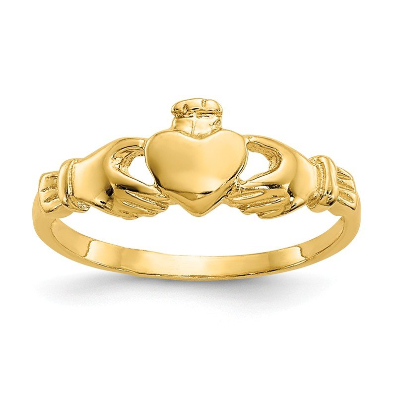 Quality Gold 14k Madi K Claddagh Baby Ring