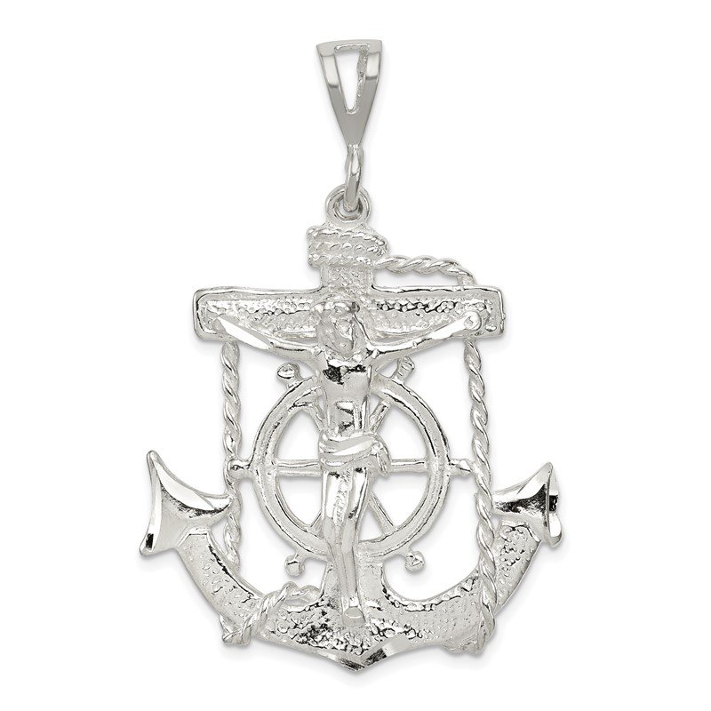 Quality Gold Sterling Silver Mariner Cross Pendant
