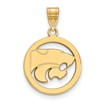 Gold-Plated Sterling Silver Kansas State University NCAA Pendant