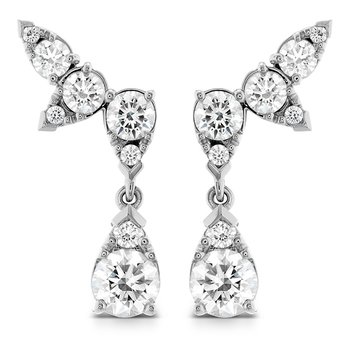 4.2 ctw. Aerial Diamond Drop Ear Vine Earrings