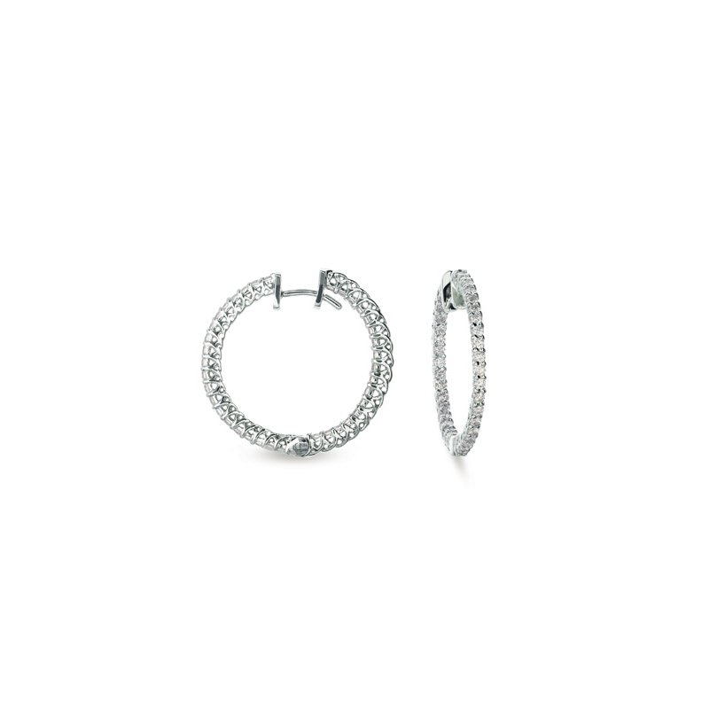 Briana Diamond Hoop Earring