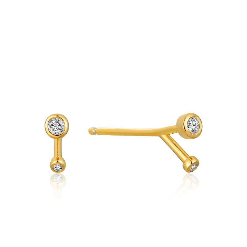 Ania Haie Shimmer Double Stud Earrings