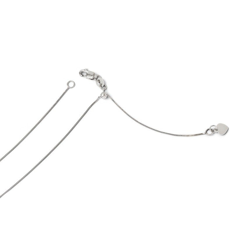 Leslie's Leslie's 14K White Gold Adjustable .55mm Baby Box Chain