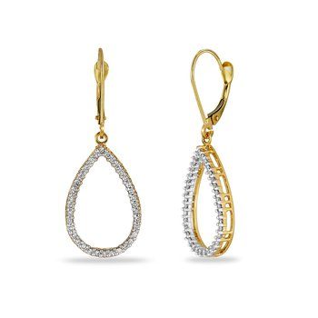14K YG Diamond Pear Shape Earring