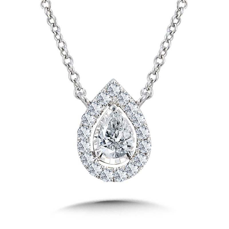 SDC Creations Diamond Star Pear-Shaped Necklace