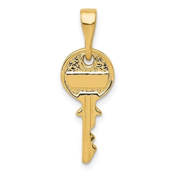 14K Polished Key Charm