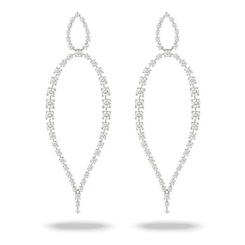 Open Diamond Drop Earrings 18KW