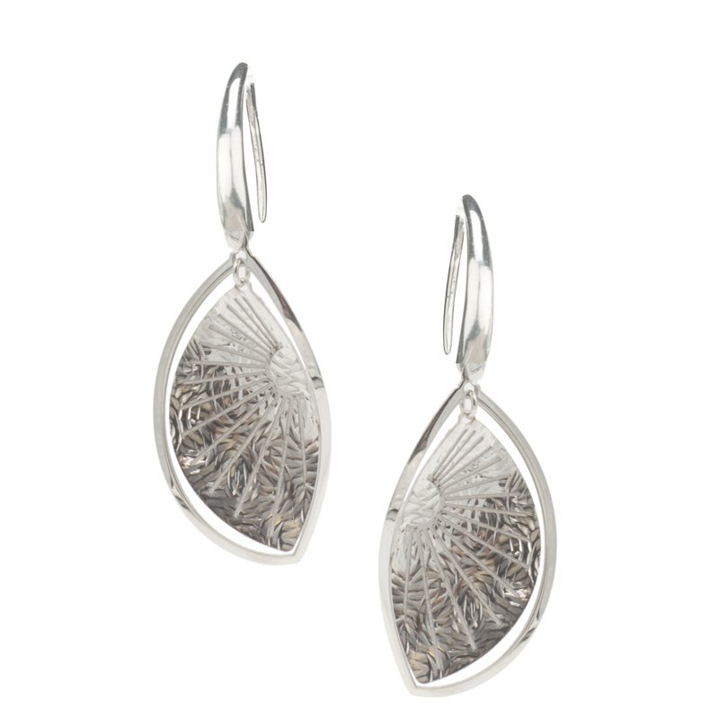 Frederic Duclos Sunray Leaf Earrings
