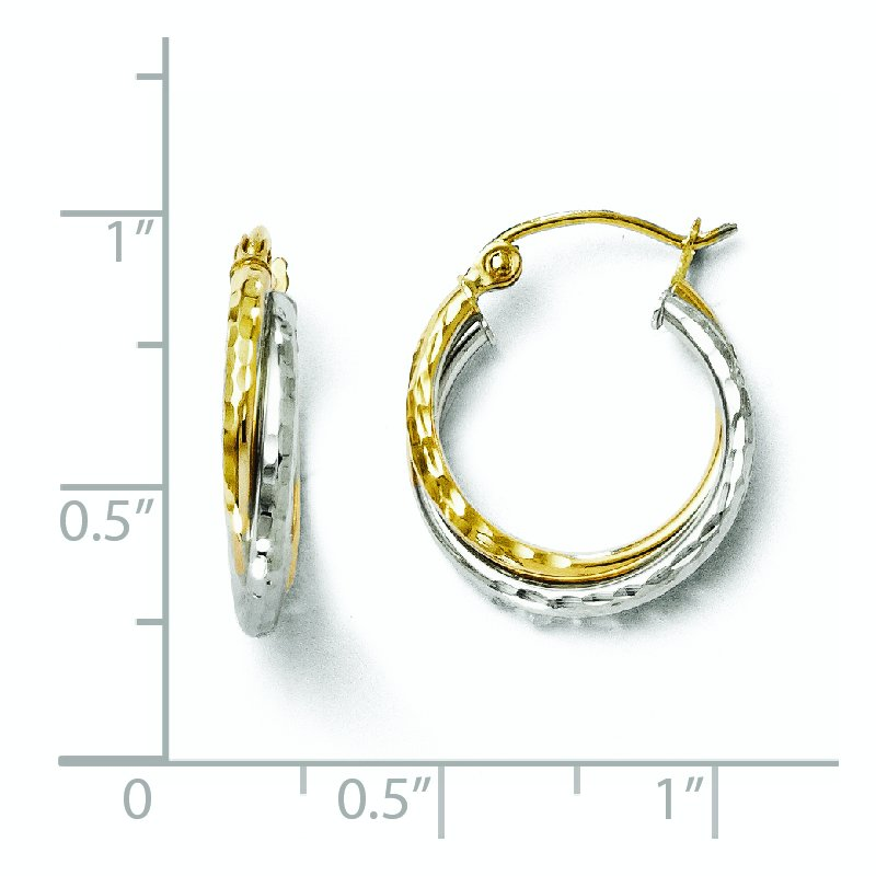 Leslie's Leslie's 10K Two-tone D/C Hinged Hoop Earrings