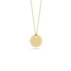 Roberto Coin 18Kt Gold Disc Pendant With Diamond Heart