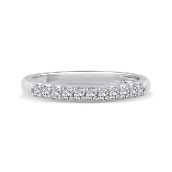 14K White Gold 1/4 ct Round Diamond Fashion Band Ring