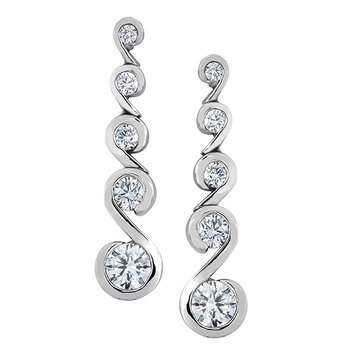 Maple Leaf Diamond Tides of Love Earrings