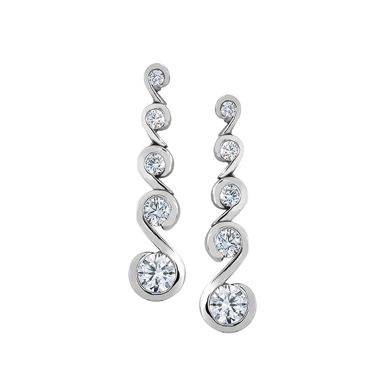 Maple Leaf Diamonds Maple Leaf Diamond Tides of Love Earrings