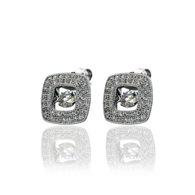 LARUS Jewelry Square Earrings