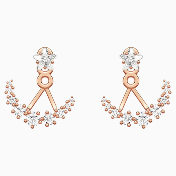 Penélope Cruz Moonsun Pierced Earring Jackets, White, Rose-gold tone plated