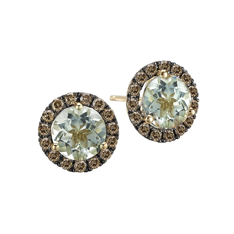 Tesoro Ladies Diamond and Gemstone Earrings