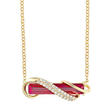 Padparadscha Necklace-CPN0022YPD