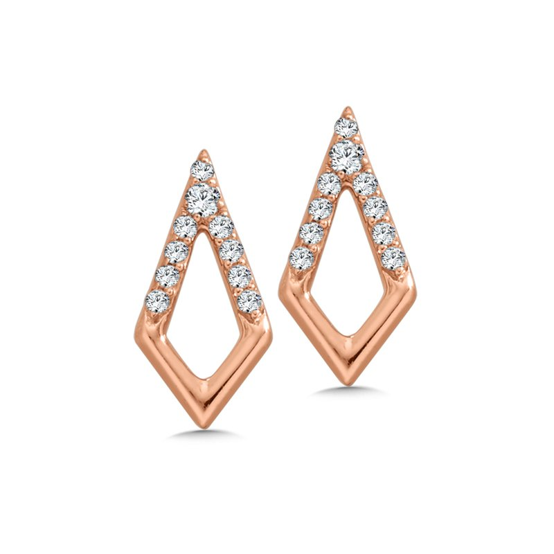 10K Diamond Kite Earrings