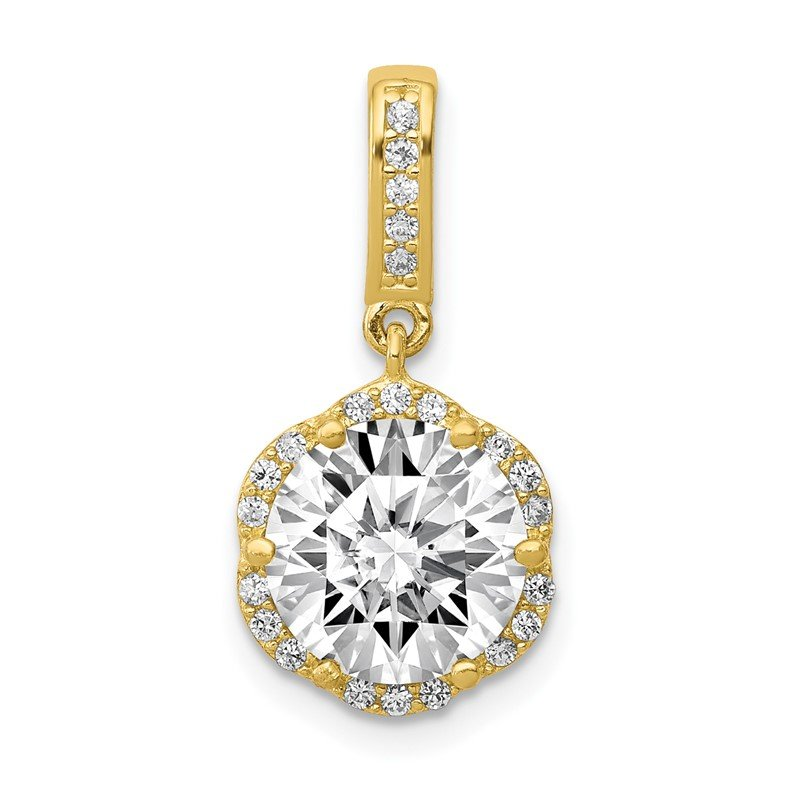 Quality Gold 10K Tiara Collection Polished CZ Pendant