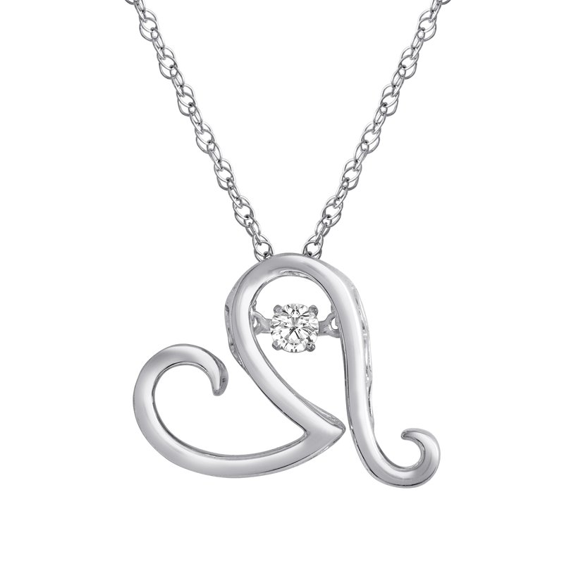 Heartbeat Collection SILVER 1/10CTW HEARTBEAT COLLECTION PENDANT