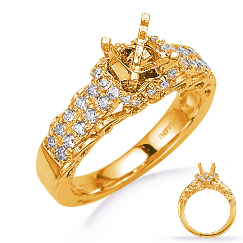 S. Kashi & Sons Bridal Yellow Gold Engegement Ring