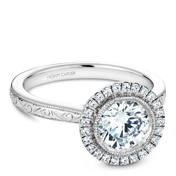 Noam Carver Vintage Engagement Ring B140-15EA