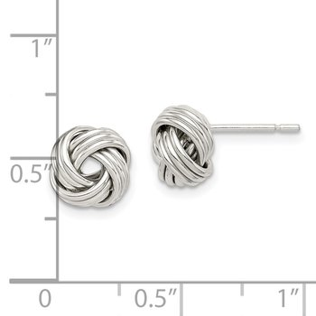 Sterling Silver Polished Love Knot Earrings