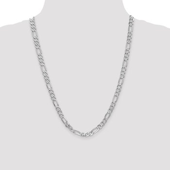 Leslie's 14K White Gold 6mm Flat Figaro Chain