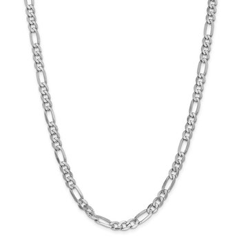 Leslie's 14K White Gold 6.0mm Flat Figaro Chain