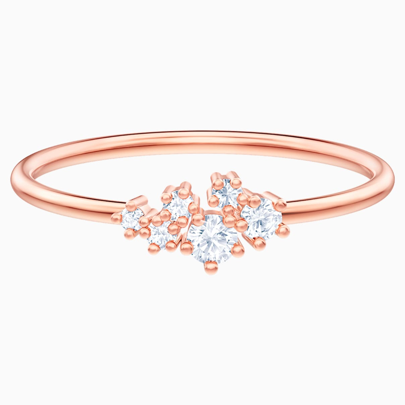 Swarovski Penélope Cruz Moonsun Ring, White, Rose-gold tone plated
