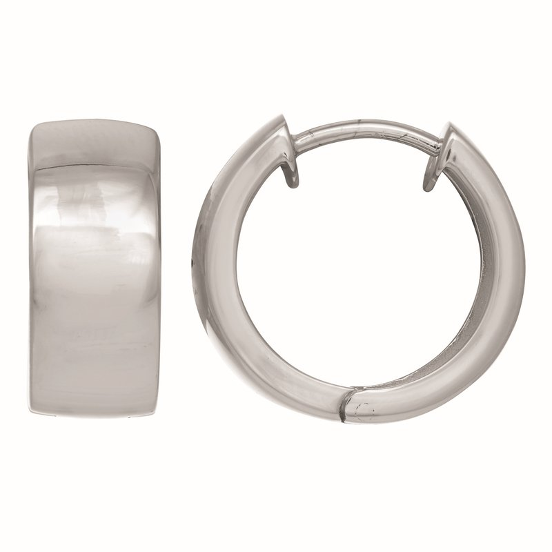 Royal Chain Silver 8x18mm Huggie Earring