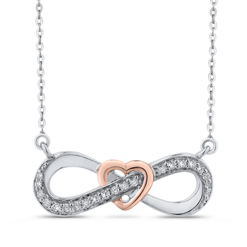 1/5 Ct Diamond Infinity Pendant with Chain