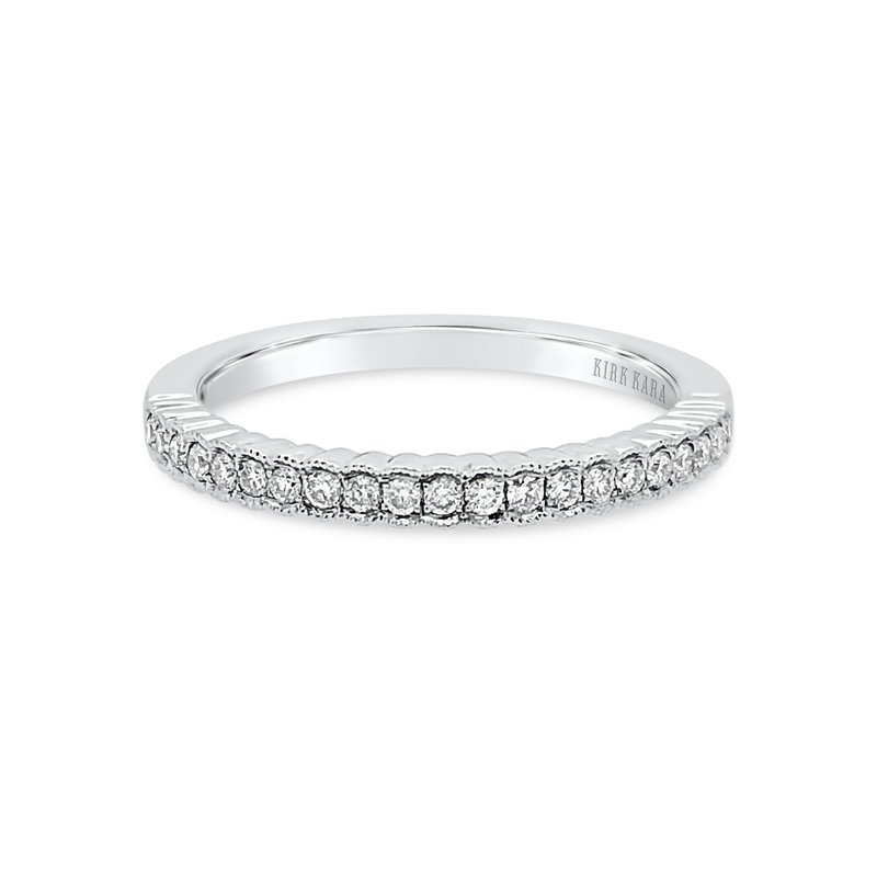 Kirk Kara 18K White Gold Diamond Stackable Band