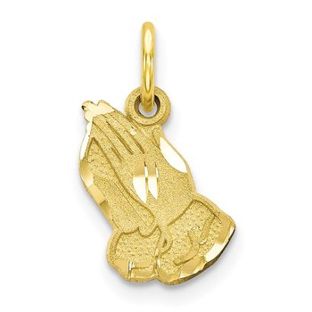 10K Yellow Gold Praying Hands Charm